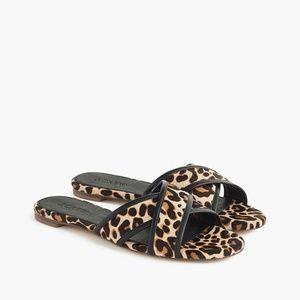 NWT J. Crew Leopard Cora Crisscross Sandals